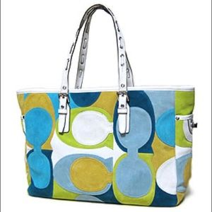 ✨HP✨Coach Limited Edition Suede Tote Handbag